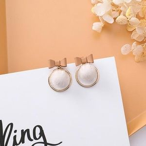 ❤️️NEW UNIQUE Furry Bow Handmade Earrings C12